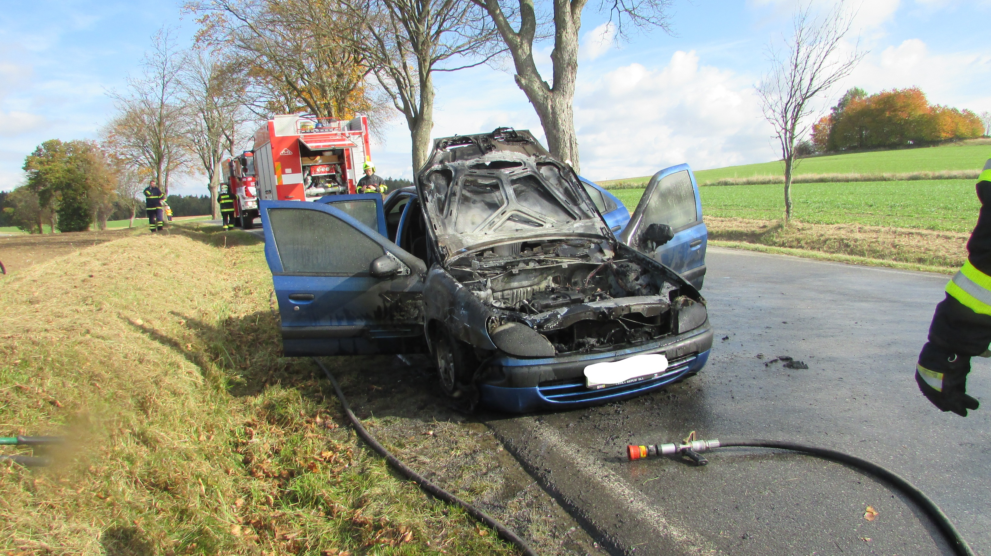 14.10.2017 Požár vozidla